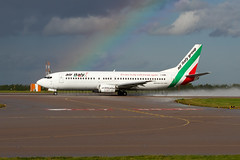 I-AIMR Air Italy B737-400 East Midlands (Vanquish-Photography) Tags: italy storm wet sunshine rain canon photography eos daylight airport rainbow ryan aviation air railway spray east taylor 7d midlands vanquish b737400 iaimr vanquishphotography