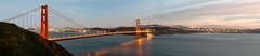 Golden Gate Bridge at dusk 2015 (Gord McKenna) Tags: ocean bridge sky panorama orange cloud night golden gate san francisco long stitch pacific pano tripod hill civil filter nd geology gord structural mckenna gordmckenna expoisure