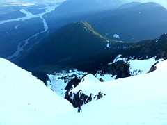 Up High (Dru!) Tags: snow canada climb exposure bc britishcolumbia climbing alpine cascades mountaineering climber northface fraserriver mountaineer chilliwack northcascades cascademountains fraservalley alpinism cheam alpinist cheamrange mountcheam skagitrange lhilheqey 1975route