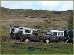 Rosedale, Old Landrovers (Hector Patrick) Tags: 4x4 pentax vehicles northyorkmoors landrover northyorkshire rosedale automotion rosedaleeast