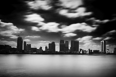 Canary Wharf , Thames Barriers , O2 arena London UK (Botond Buzas Photography) Tags: city longexposure bw london nikon canarywharf tamron gost 2875mm 1118mm thamesbarriers d7100 o2arenalondonuk