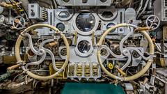 USS Cavalla Submarine Diving Controls, Galveston TX (commercialguy1) Tags: interior wwii diving submarine controls cavalla