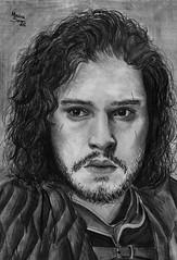 kit harington- Jon Snow (Monalisa Borges) Tags: art drawing stark hbo serie realism realistic jonsnow gameofthrones kitharington