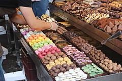 Stall in La Boqueria, Barcelona (alison's daily photo) Tags: barcelona spain market chocolates laboqueria macaroons