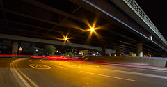 Roads of London (13 of 18) (johnlinford) Tags: city longexposure england urban london night landscape lights poplar unitedkingdom 7d gb docklands canonefs1022 canoneos7d