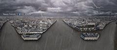 Monte des eaux - Paris (R.G Artwork) Tags: paris france seine montage champselyses innondation crue mattepainting placedeletoile dalbera arsdetriomphe