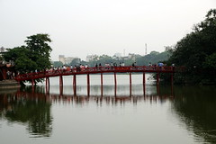 The Huc Bridge (Bex.Walton) Tags: travel vietnam hanoi hoankiemlake oldquarter