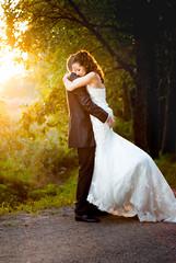 Love in the sunset (Mikko Vuorinen) Tags: wedding sunset portrait sunlight love nature groom bride couple ht mikko auringonlasku vuorinen hpari hkuvaus kuvausmikkovuorinen meviart