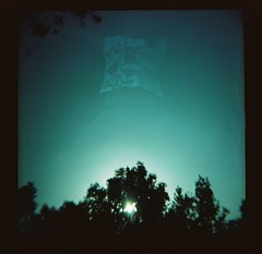 (lauraesgro) Tags: trees sky sun film silhouette lomo lomography exposure double 120mm