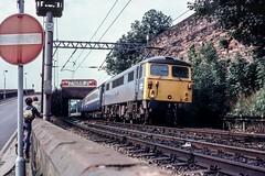 Going the distance (Nodding Pig) Tags: uk greatbritain england film electric train 35mm railway scan transparency locomotive 1979 carlisle britishrail kodachrome64 pentaxsp1000 wcml class87 87028 al7 londonmidlandregion lordpresident 4325r101 clamsman