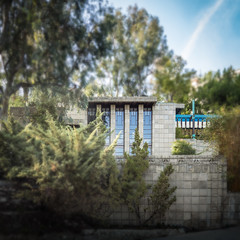 Storer House (Chimay Bleue) Tags: house architecture frank design la losangeles los maya angeles modernism hills architect mayan hollywood lloyd block wright residence modernist tapestry schindler storer fllw