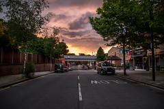 Wanstead Highstreet Sunset (cuppyuppycake) Tags: street sunset england black london june underground high cab east wanstead redbridge e11 snaresbrook