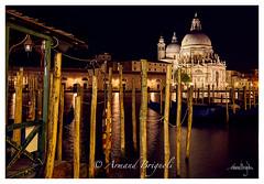 Santa Maria della Salute (armandbrignoli) Tags: venise ville city church eglise nuit twilight mer sea lagune ponton reflet reflection canon 5d2 maria salute