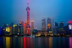 Shanghai Blues (Ben-ah) Tags: skyline architecture night river waterfront shanghai pudong bund orientalpearltower lujiazui huangpuriver bluehours