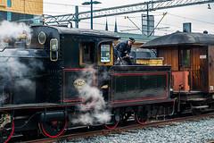 Manly work (paulius.malinovskis) Tags: man beautiful train work spring cool sweden sony steam explore uppsala shovel coal scandinavia agathachristie uppland olftimes