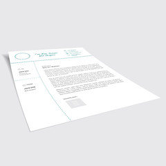 Minimalistic Cover Letter (creativeloads.com) Tags: blue red white black green modern photoshop design icons gray minimal clean illustrator elegant simple vector template minimalist stylish resume indesign coverletter curriculumvitae