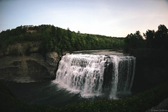 Letchworth (Sean Sullivan Photography) Tags: park trees sunset sky tree nature water river waterfall state falls letchworth gorge