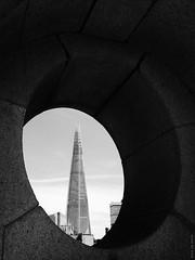 Shard (Ian Smith (Studio72)) Tags: street uk england urban building london tower window architecture contrast shadows framed frame shard southwarkbridge rx100 studio72 theshard modernlondon sonyrx100