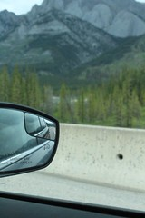 review (brooklyn legresley) Tags: road trees mountains window glass rockies mirror bc mountians reiew canont5