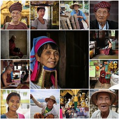 Myanmar people are enchanting and very friendly (Bn) Tags: fdsflickrtoys collage expositie collection best mosaic portrait people monks myanmar birma burma smile friendly nomad meditation monk youngster face thanaka facial monastery blind man woman tradition culture enchanting welcoming simple curious talking chat album fisherman buddism temple hat asia country prayer eye contact girl boy family bagan inle lake longneck charm mystery help 6d galerie