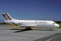 F-GDUY-1-EGJJ-JUN1989 (Alpha Mike Aviation Photography) Tags: jer jersey f28 fellowship airfrance fokker egjj fokkerf28 f28fgduy