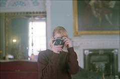 (333Bracket) Tags: fujicast605 fujinon55mmf22 333bracket london 35mm film analogue self mirror reflection protection girl kenwoodhouse blonde sweater