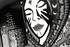 Close your eyes (TheLionPo) Tags: blackandwhite bnw city streetart barcelona graffitty walls paredes arte woman mystic monochromatic monochromaticworld xperia xperiax xperiaphotoacademy byn bw streets