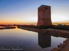 Old Tower (Francesco Impellizzeri) Tags: sunset landscape ngc sicily sicilia trapani