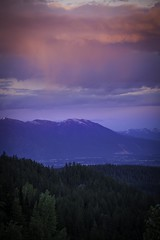 Sunset from Big Mountain (Wharry Photography) Tags: outdoor mountain sky landscape cloud sunset mountainside mountainpeak rain forest glow pink