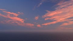 Clouds and the Ocean (fksr) Tags: evening dusk pinkclouds bluesky pacificocean pointreyes california marincounty