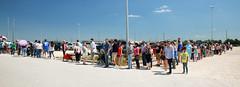 Long, Long Line (wyojones) Tags: texas deerpark houston sanjacintobattlefieldstatehistoricalpark sanjacintoday sanjacintobattlereenactment parking lines people wait frustration shelllot wyojones