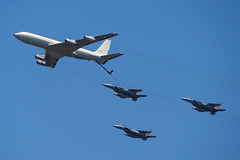F-15i refueling (Ilia K.) Tags: show blue sky israel wings fighter eagle aircraft air flight engine boom boeing 707 tanker fuel airplain airtanker boeing707 f15 refueling f15i