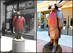 SAME ARTIST TWO YEARS DIFFERENT HEADS (Visual Images1) Tags: sculpture diptych artist 6ws siouxfallssculpturewalk picmonkey