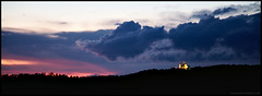 Bielany (kkrasnall) Tags: bielany krakw canon sunset clouds purple monastery