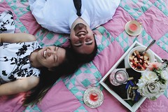 picnic giggles (Jolie-Laide Photography) Tags: food cute canon vintage photography photo couple picnic quilt tea lemonade relationship goals teacups laughter jolielaide jolielaidephotography