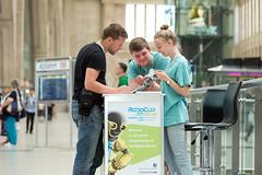 Robcup 2016 // Welcome desk at the main train station (robocup2016) Tags: leipzig sachsen deutschland deu robocup robocup2016