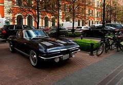 Chevrolet Corvette C2 Sting Ray Coupe (SamismagiC) Tags: auto blue classic chevrolet car st vintage dark automobile ray russia stingray sting bob petersburg spot retro corvette c2 coupe spotting mclean russie petersbourg