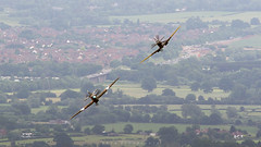 Spitfire TE311 (Mk LF XVIE) & Hurricane PZ865 (Mk IIc) (Bryn Floyd) Tags: hurricane hill ww2 spitfire malvern fighters bbmf mappfest