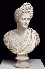 Ancient Rome. Portrait of  Empress Domitia Longina , Emperor Domitian's wife showing off  the flamboyant style of hairdressing that became popular under the Flavians, during the second half of the first century. (mike catalonian) Tags: empress ancientrome domitian 1stcenturyad domitialongina