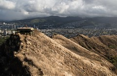 Aloha: North Shore and Diamond Head (Quad Dimensional Pictures) Tags: ocean sunset beach hawaii climb sand waves turtle may palmtrees crater northshore diamondhead honolulu heights volcanic 2016 statemonument