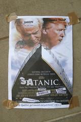 street art, London (duncan) Tags: streetart london donaldtrump trump satanic borisjohnson
