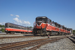 2016-06-12 0913 P&W 4004 and Obs Car, Worcester, MA (jimkleeman) Tags: pw