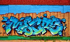 (NevaSpend) Tags: brick philadelphia graffiti blues crispy crisp greens hood philly kensington graff westkensington mecro