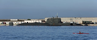 Royal Navy Astute-class SSN HMS Ambush (S120) at HM Naval Base, Gibraltar