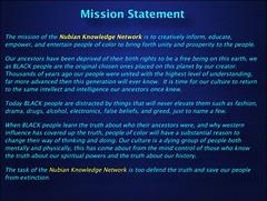 NKN Mission Statement (YOMOSA Film Company) Tags: nubianknowledgenetwork yomosafilmcompany black hotep awakened kemet africa african god