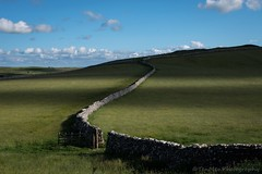 Stone wall snake (jasonmgabriel) Tags: field stone wall clouds landscape scenery gate yorkshire hill dry dales malham