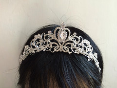 On model - Sparkle Victorian wedding bridal jewelry headband Swarovski rhinestone crystals hair comb tiara (weddingvalle) Tags: wedding tiara beautiful fashion silver hair pretty crystals handmade victorian style sparkle wreath prom statement romantic brides crown accessories weddings etsy bridal comb rhinestones jewerly headpiece weddingwire