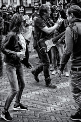 Dancing In The Streets (Alfred Grupstra Photography) Tags: street people blackandwhite bw man women crowd streetphotography streetlife hoornsestadsfeesten eamonmccormack