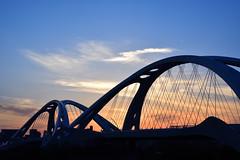 After the rain (Hi ro ki) Tags: bridge blue sunset sky orange japan nikon toyota  60mm  aichi    f28       d810