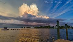 Bokeelia Thunderstorm (tropicdiver) Tags: sunset storm gulfofmexico clouds florida thunderstorm fishingpier leecounty charlotteharbor barrierisland bokeelia